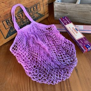 ✨HAND DYED NET STRING FRENCH MARKET BAG✨